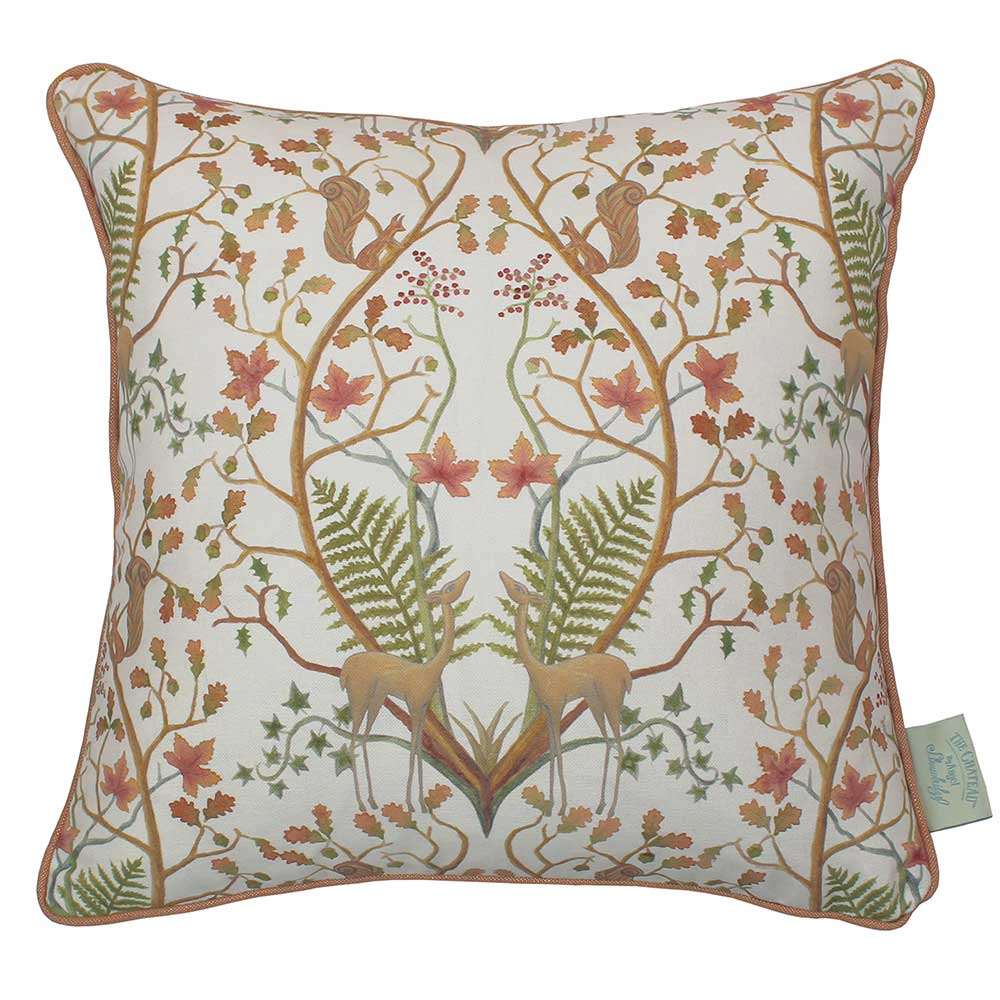 The Chateau by Angel Strawbridge The Chateau Woodland Trail Cushion Cream - Product code: WON/CRE/04343PI
