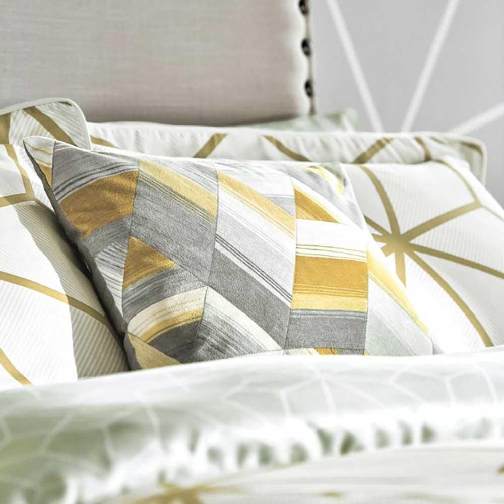 Axal Cushion - Grey & Yellow - by Harlequin