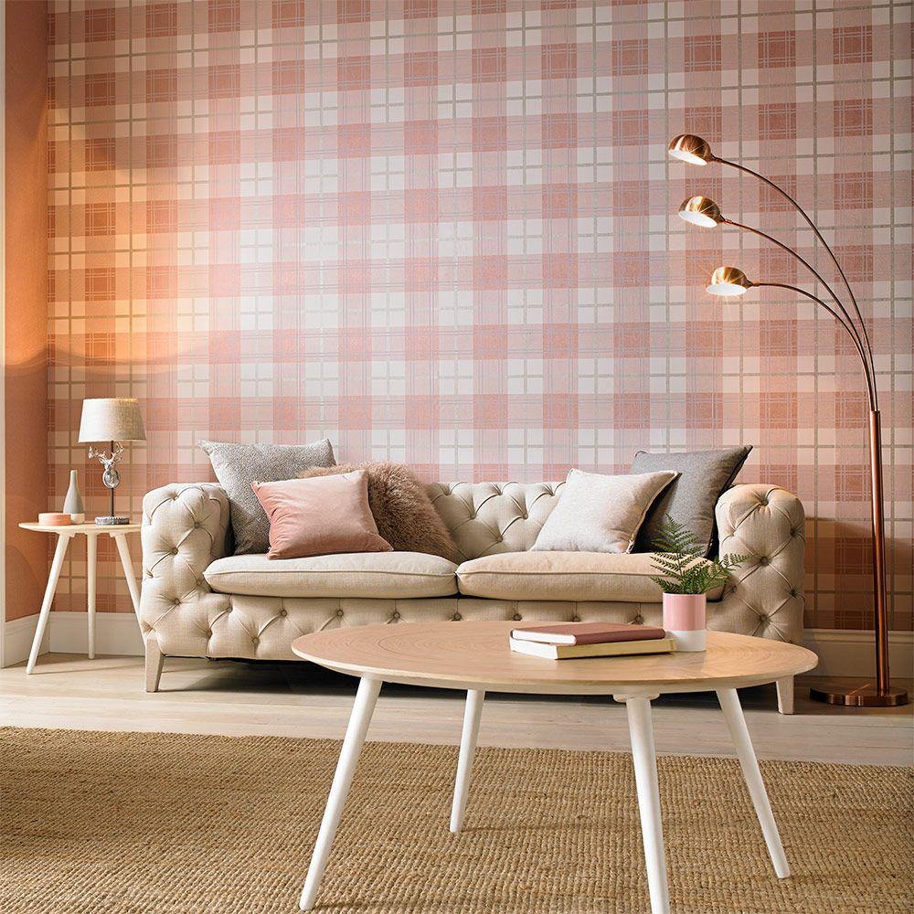 Graham & Brown Tartan Pink Wallpaper - Product code: 104723