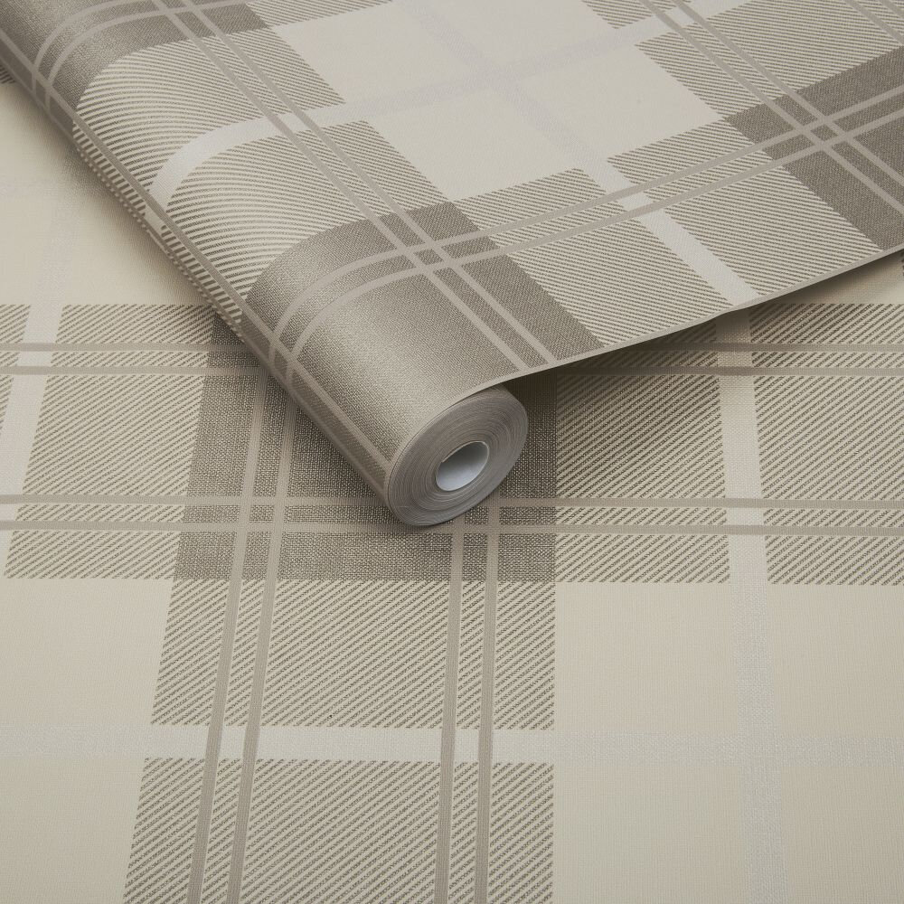 Graham & Brown Tartan Natural Wallpaper - Product code: 104724