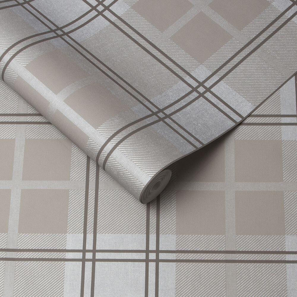 Graham & Brown Tartan Earth Wallpaper - Product code: 105904