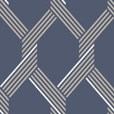Graham & Brown Vector Navy / Gold Wallpaper - Product code: 105466