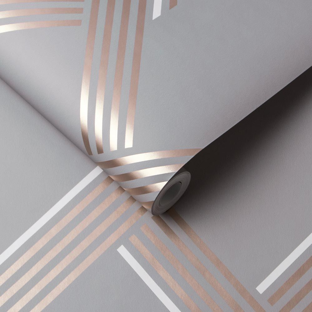 Graham & Brown Vector Rose Gold Wallpaper - Product code: 105467