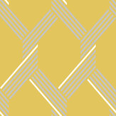 Graham & Brown Vector Lemon / Silver Wallpaper - Product code: 105468