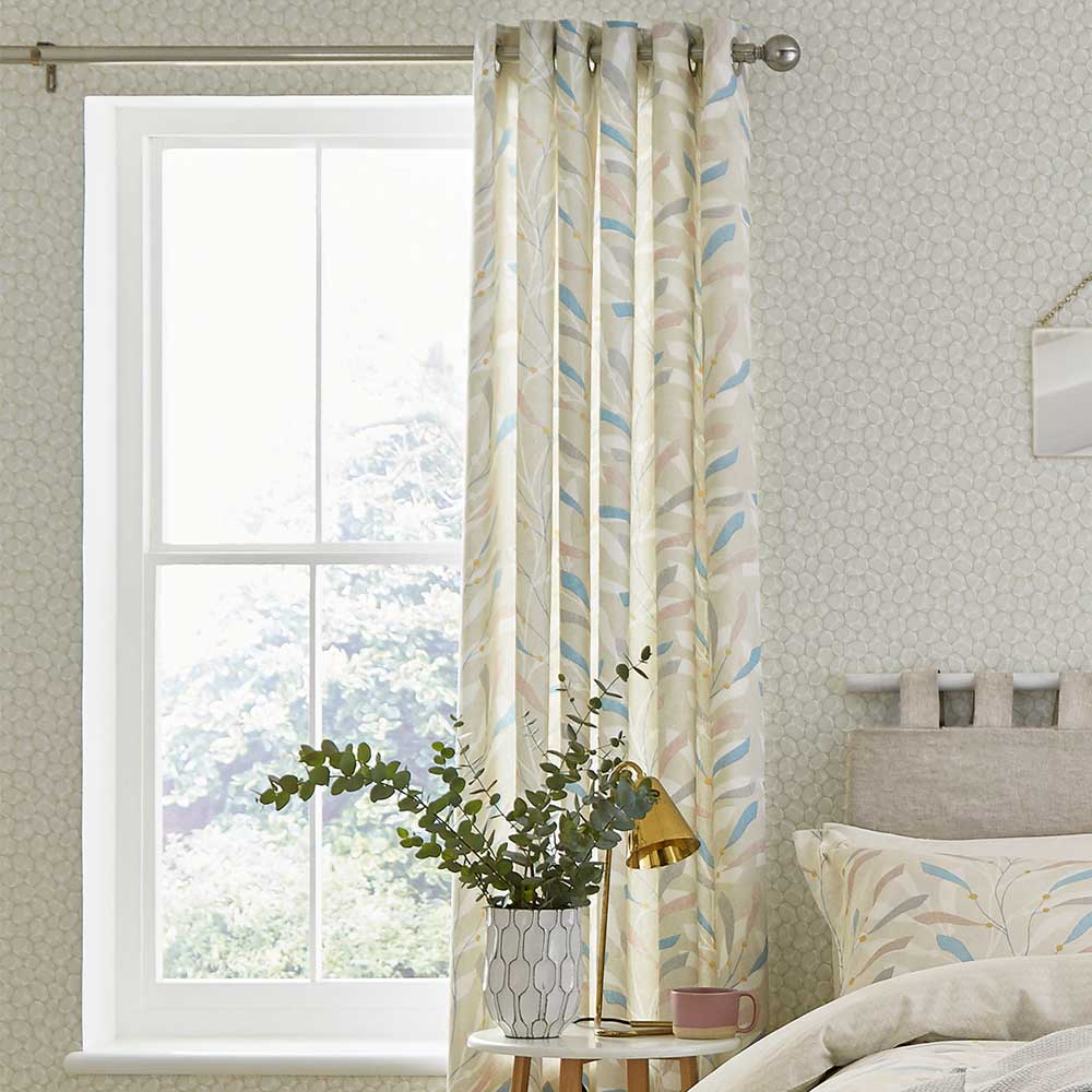 Sea Kelp Lined Curtains Ready Made Curtains - Blush - by Sanderson