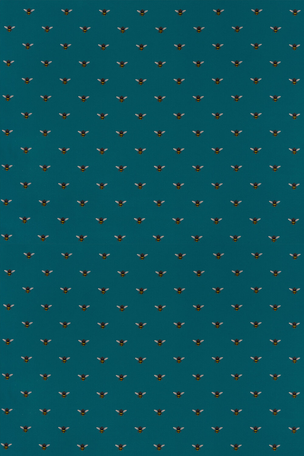 Clarke & Clarke Abeja (bee) Teal Fabric - Product code: F1325/05
