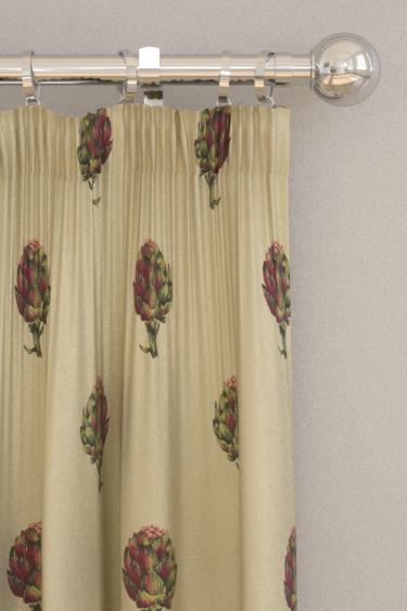 Clarke & Clarke Artichoke Linen Curtains - Product code: F1326/02