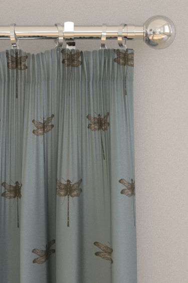 Clarke & Clarke Azure Mineral Curtains - Product code: F1327/03