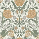 Galerie Filippa Green / Orange Wallpaper - Product code: 33006
