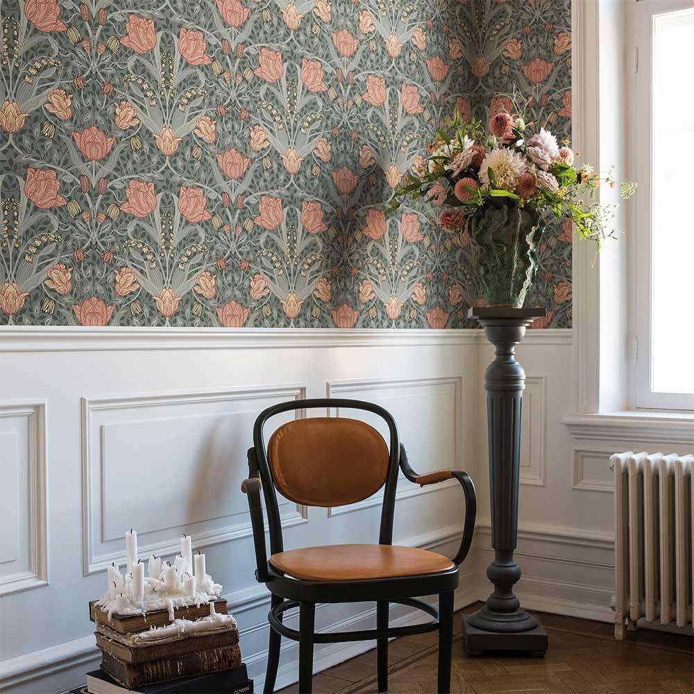 Galerie Filippa Green / Blush Wallpaper - Product code: 33010