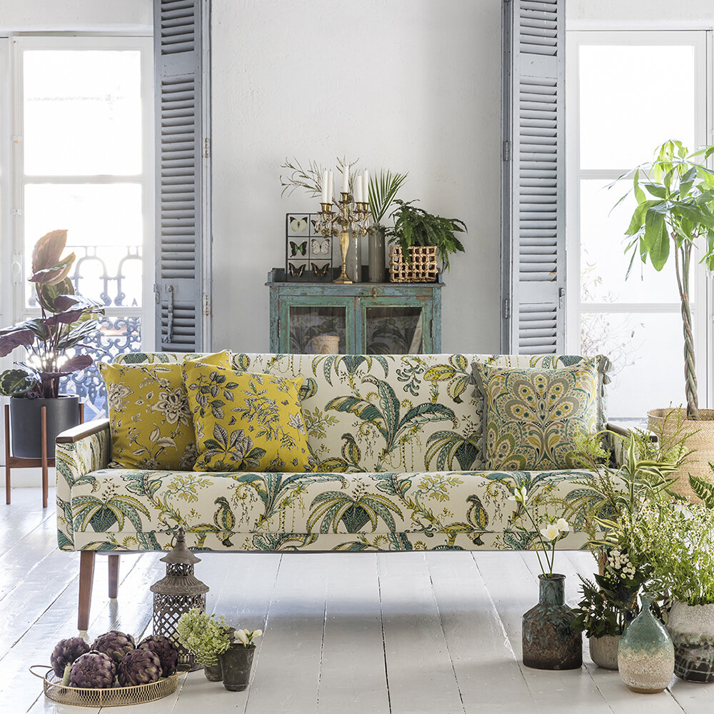 Hortus Fabric - Chartreuse - by Clarke & Clarke