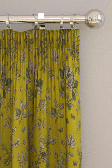Clarke & Clarke Hortus Chartreuse Curtains - Product code: F1329/03