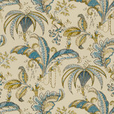 Clarke & Clarke Ophelia Spice / Teal Fabric - Product code: F1330/05