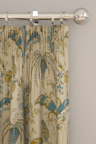 Clarke & Clarke Ophelia Spice / Teal Curtains - Product code: F1330/05