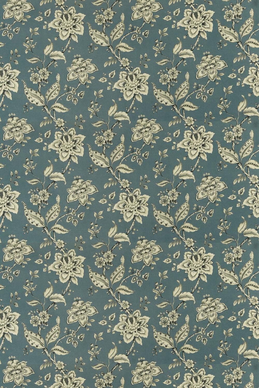 Palampore Fabric - Denim - by Clarke & Clarke