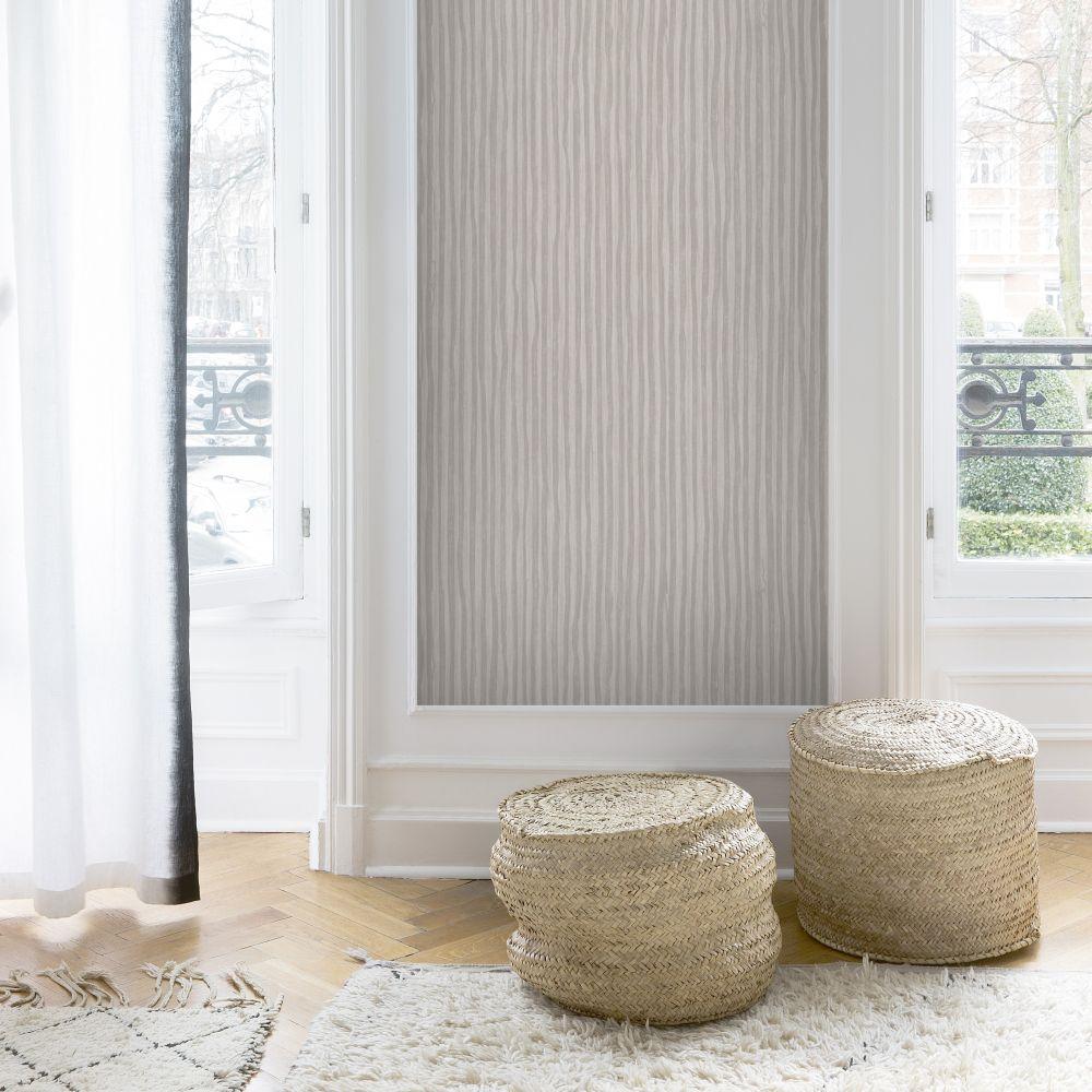 SK Filson Stripes Dark Beige Wallpaper - Product code: LV1102