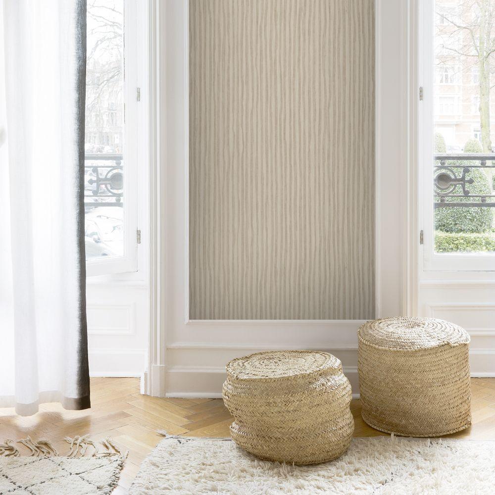 Stripes Wallpaper - Brown - by SK Filson