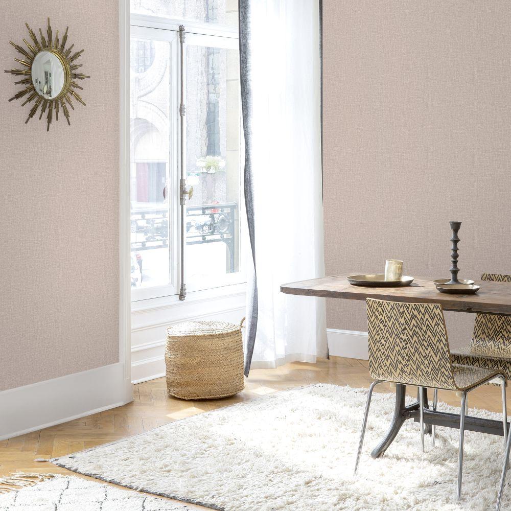 SK Filson Linen Plain Rose Gold Wallpaper - Product code: LV1205