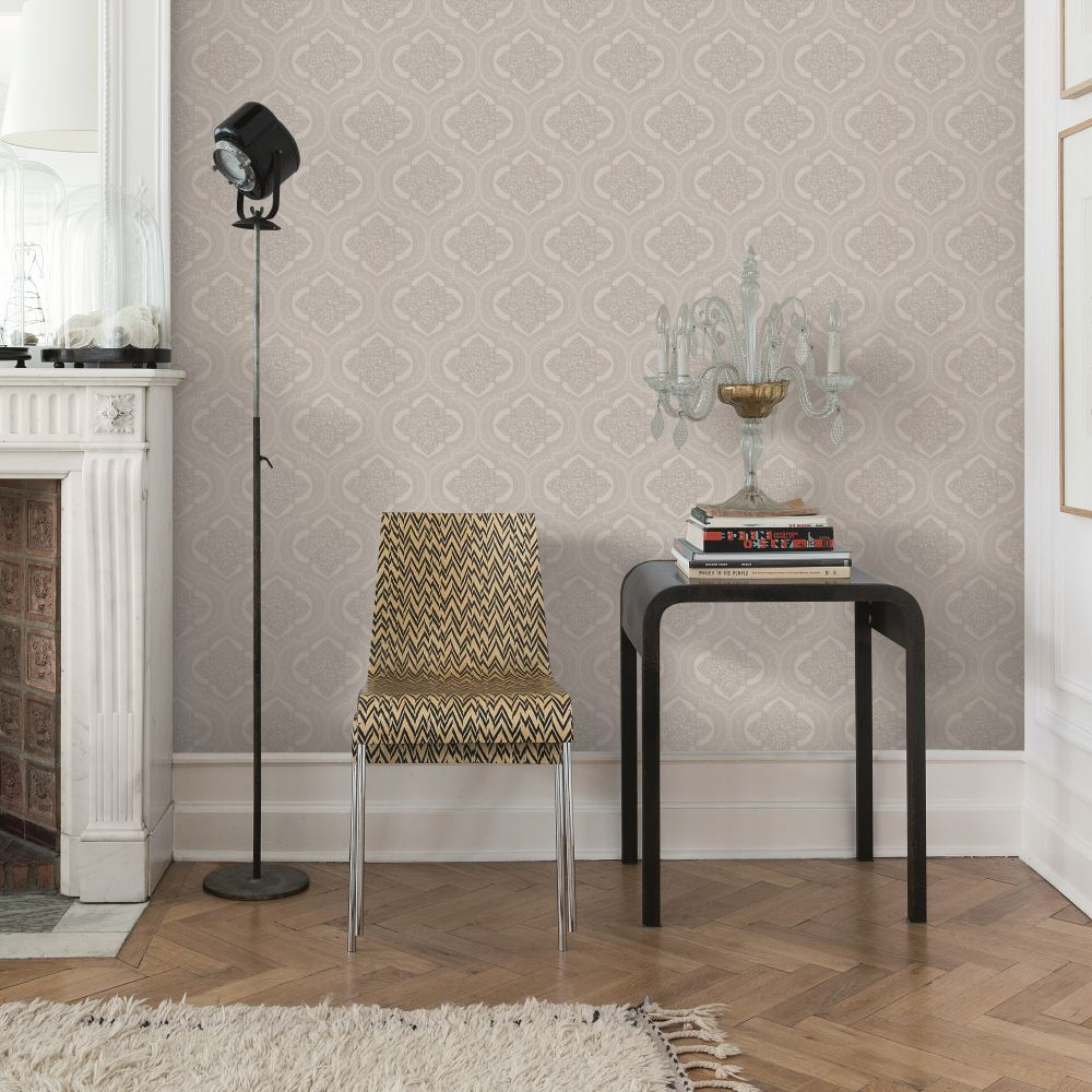 SK Filson Damask Silver Wallpaper - Product code: LV3204