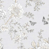 Galerie Boughs and Butterflies Grey and Beige Wallpaper - Product code: FH37538