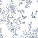 Galerie Boughs and Butterflies Inky Blue Wallpaper - Product code: FH37539