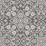 Galerie Moroccan Floral Black and Silver Wallpaper - Product code: FH37543