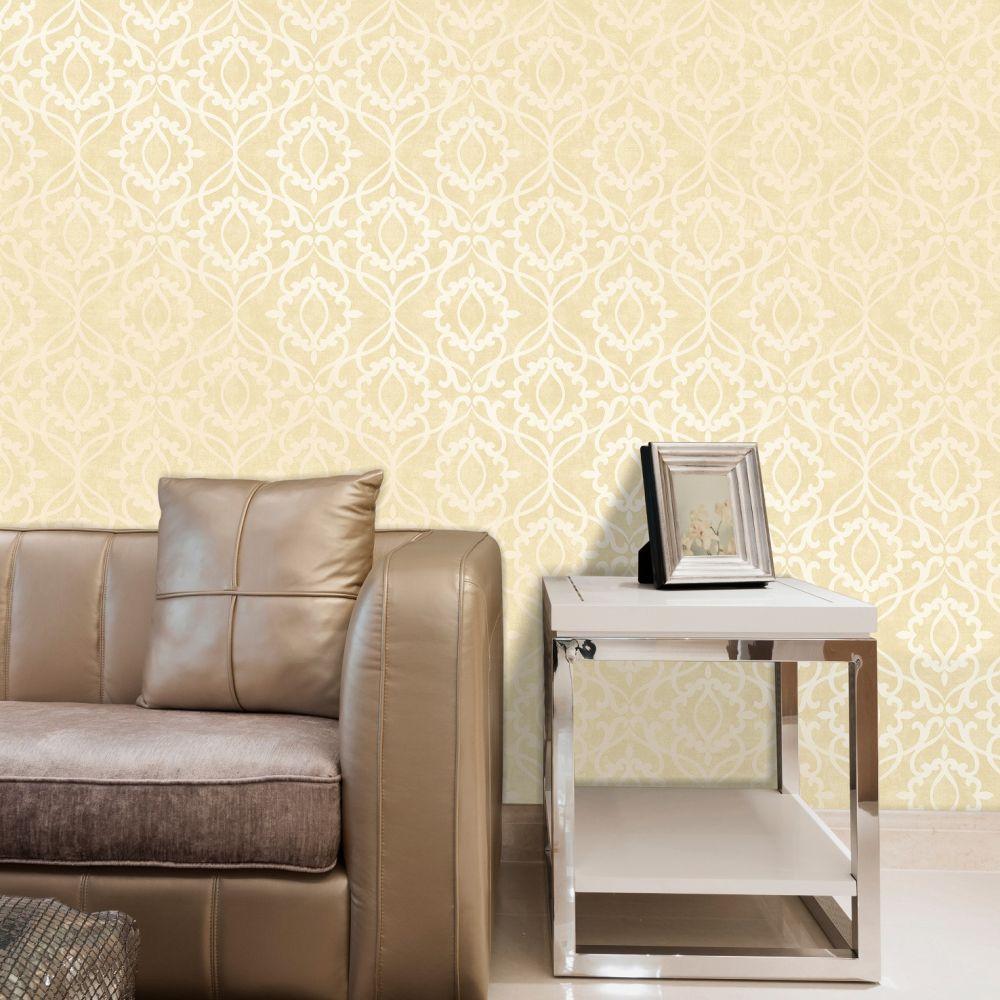 Eastern Geometric Wallpaper - Gold - by SK Filson