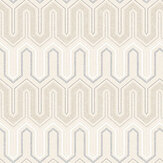 Galerie Zig Zag Biscuit and Grey Wallpaper - Product code: GX37610
