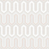 Galerie Zig Zag Grey and Dusky Pink Wallpaper - Product code: GX37613