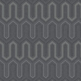 Galerie Zig Zag Charcoal and Silver Wallpaper - Product code: GX37614