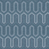 Galerie Zig Zag Grey/ Blue Wallpaper - Product code: GX37618