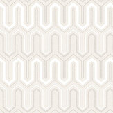 Galerie Zig Zag Beige and White Wallpaper - Product code: GX37619