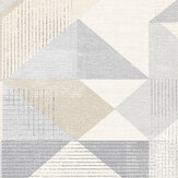 Galerie Silk Screen Geometric Biscuit and Grey Wallpaper - Product code: GX37655