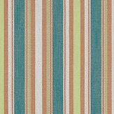 Clarke & Clarke Ziba Teal / Spice Fabric - Product code: F1352-04