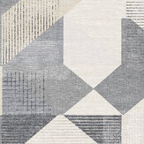 Galerie Silk Screen Geometric Charcoal and Beige Wallpaper - Product code: GX37657