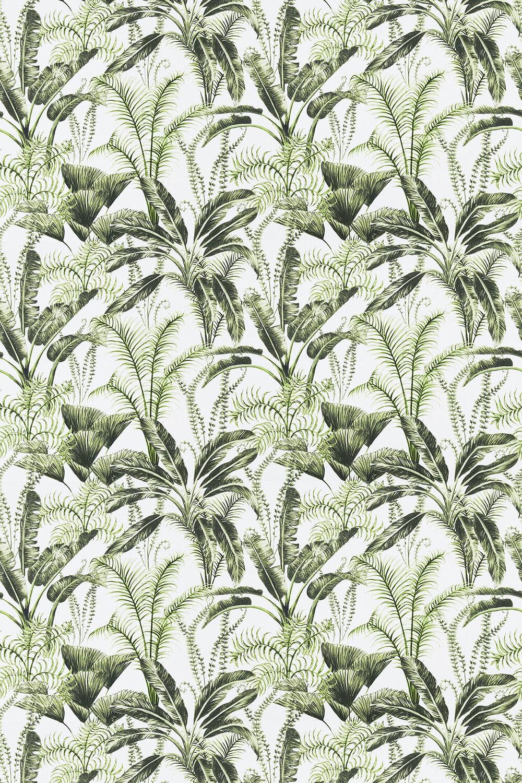 Majorelle Fabric - Ivory - by Clarke & Clarke