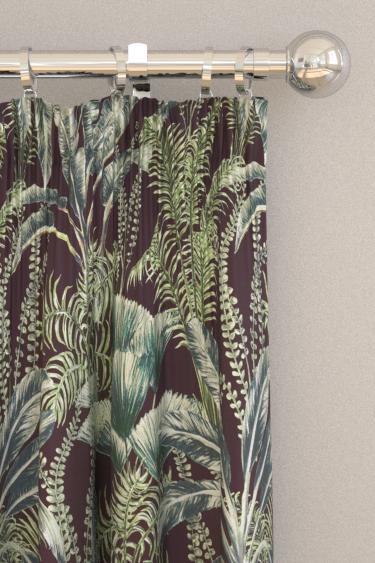 Clarke & Clarke Majorelle Velvet Charcoal Curtains - Product code: F1367-01