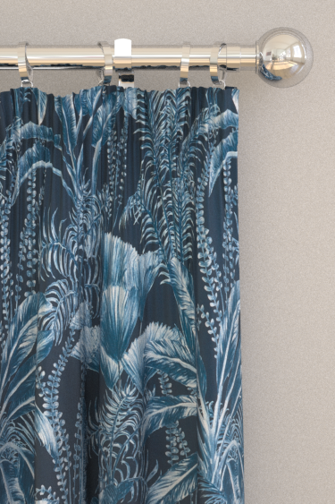 Clarke & Clarke Majorelle Velvet Midnight Curtains - Product code: F1367-02