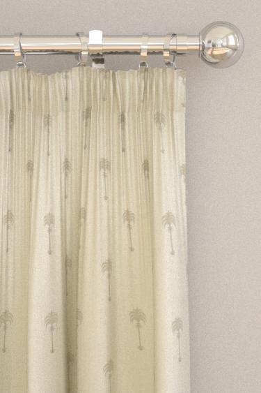 Clarke & Clarke Menara metallic Champagne / Ivory Curtains - Product code: F1370-01