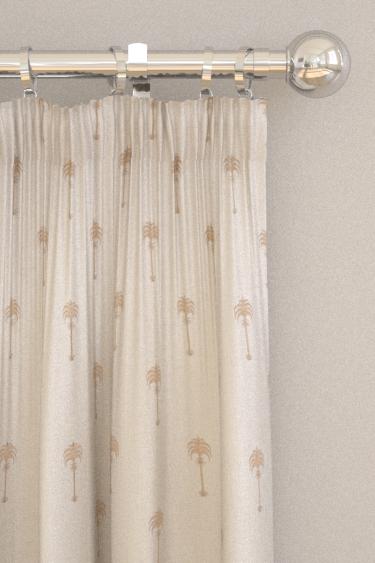 Clarke & Clarke Menara metallic Rose Gold / Ivory Curtains - Product code: F1370-02
