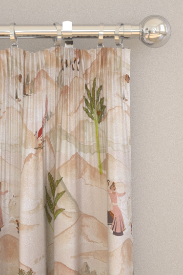 Clarke & Clarke Sahara Apple / Blush Curtains - Product code: F1371-01