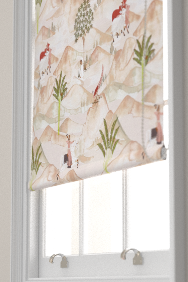Clarke & Clarke Sahara Apple / Blush Blind - Product code: F1371-01