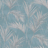 Grandeco Palm Teal Blue Wallpaper - Product code: MY2002