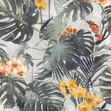 Grandeco Orchid Jungle Green Wallpaper - Product code: MY2101
