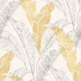 Grandeco Banana Leaf Gold Wallpaper - Product code: MY2202