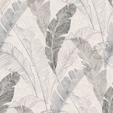 Grandeco Banana Leaf Grey Wallpaper - Product code: MY2203