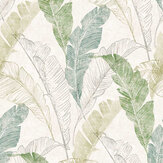 Grandeco Banana Leaf Green Wallpaper - Product code: MY2204