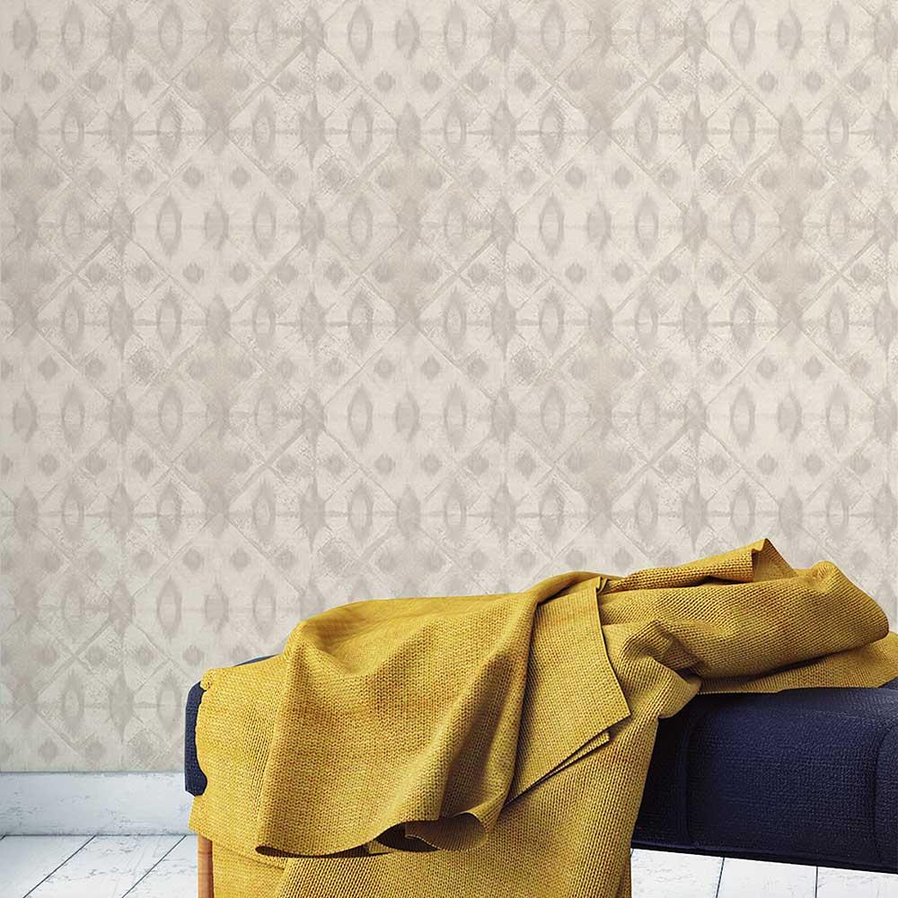 Myriad Wallpaper - Grey - by Grandeco