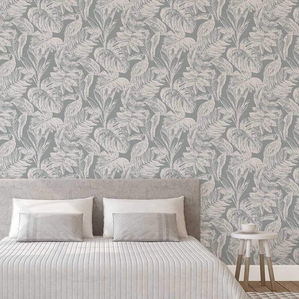Grandeco Toucan Jungle Grey Wallpaper - Product code: MY3403