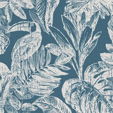 Grandeco Toucan Jungle Kingfisher Wallpaper - Product code: MY3404